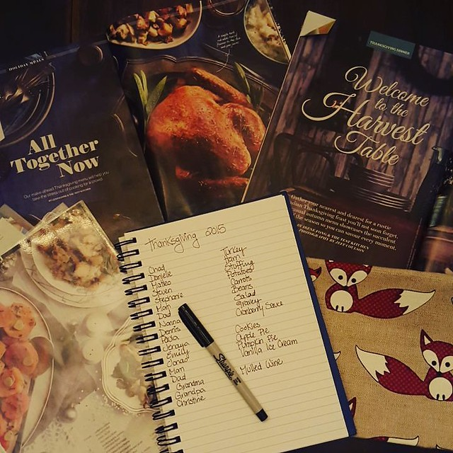 We are hosting dinner for 18 people this Thanksgiving. Time to start menu planning! #365photochallenge #thanksgiving #menuplanning #dinnerparties