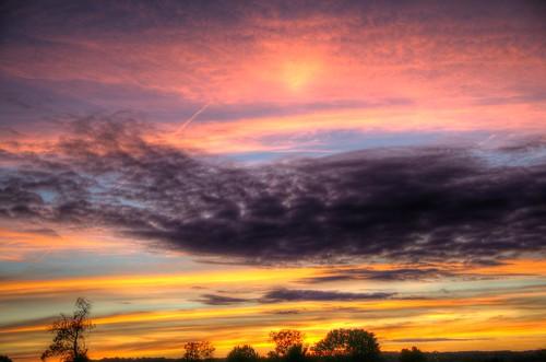 sunset ohio october skies southeast 2015