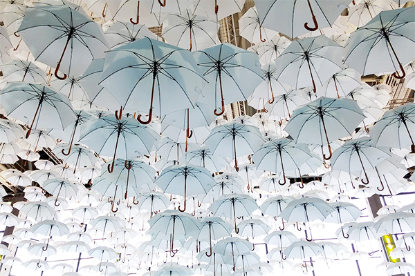 1100 Floating Umbrellas Installation By Kaisa And Timo Berry