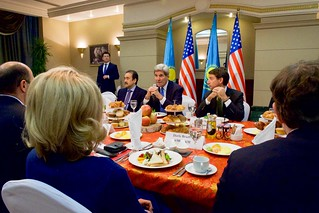 Secretary Kerry Meets With Members of American Chamber of Commerce in Kazakhstan