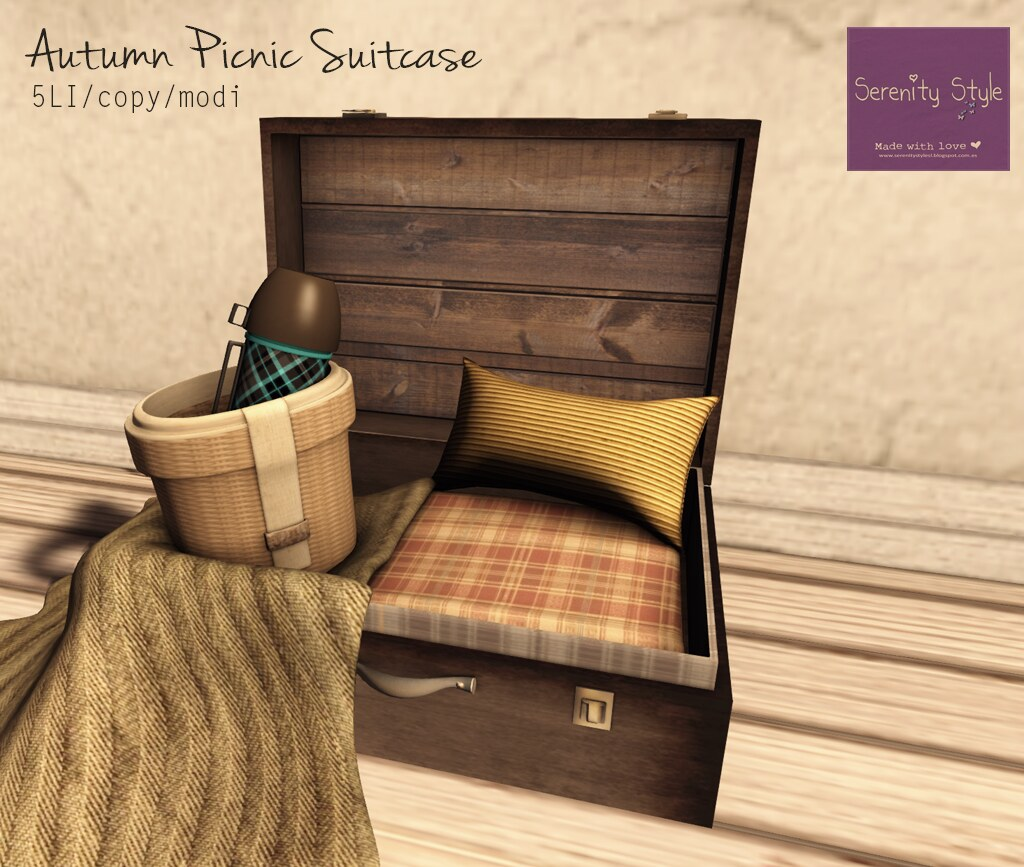 Serenity Style- Autumn picnic suitcase