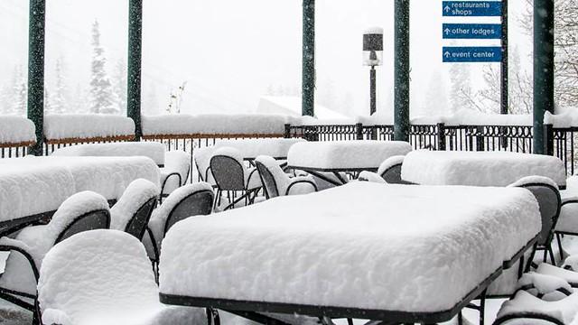 Wake up to Utah snow