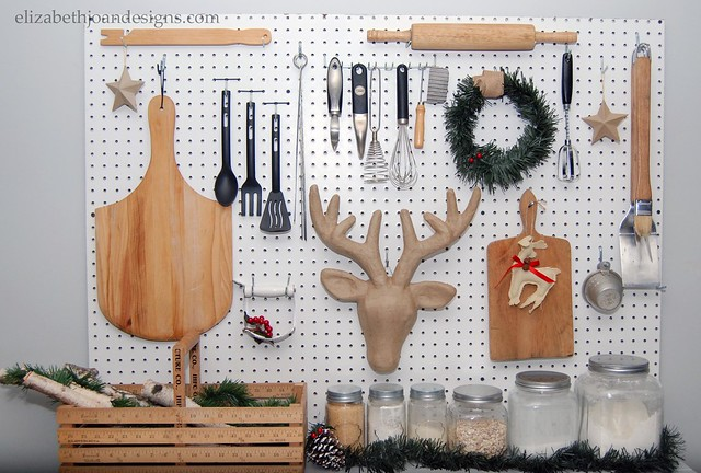 Pegboard Holiday display 2015