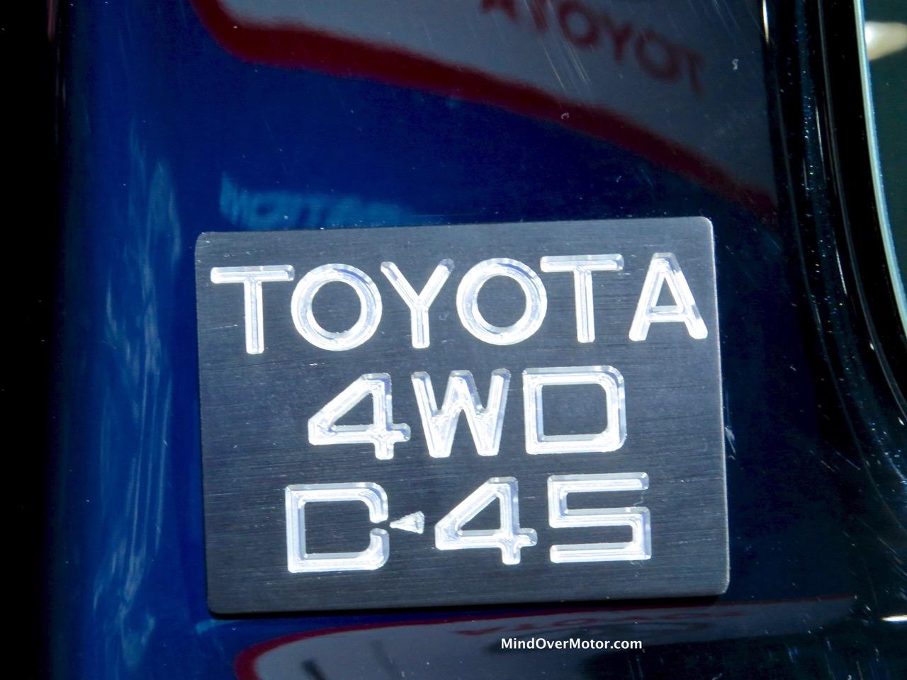 Back to the Future Tacoma SR5 EFI Badge