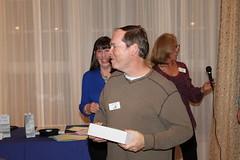 Dean Shostak winning a prize Photo by George Reiske.