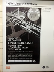 1977 poster introducing the Jubilee line at Charing Cross station