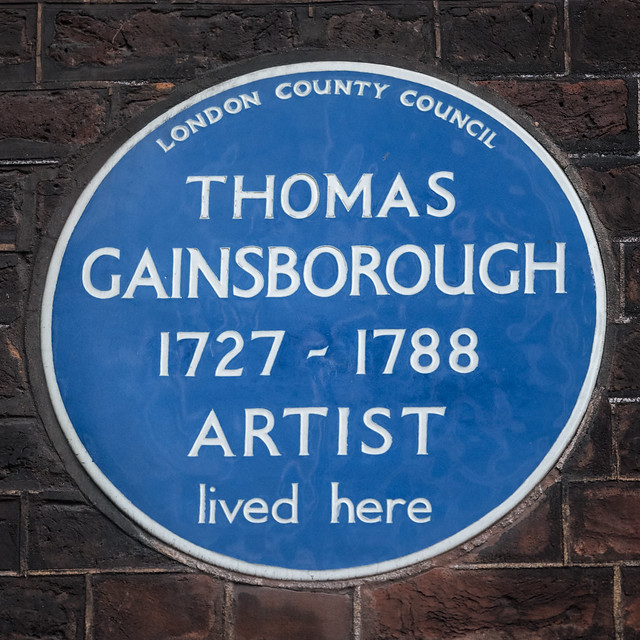 Photo of Thomas Gainsborough blue plaque