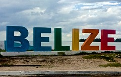 'Overseas Adventure Travel', 'Route of the Mayas', Belize City, Belize, Caribbean, clouds, Spirit of St. Louis replica, beach,  Peg's iPhone,
