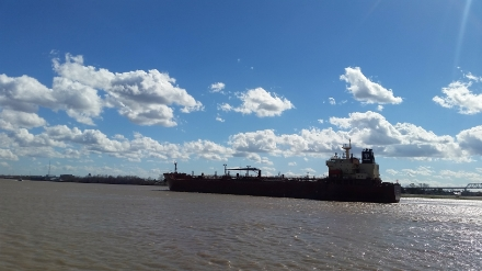 Tanker on the Mississippi