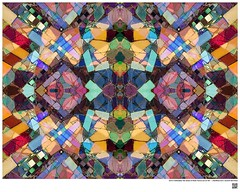 Modern Mandala Title: Owl or Embedded Tile Detail at Watts Towers LA CA VII  #BartRoss ©2016  #simonrodia #americanfolkart #wattstowers #watts #discoverla #mirrored  #abstractphotography #artprints #Curator #LAart #artistic_share #abstraction  #