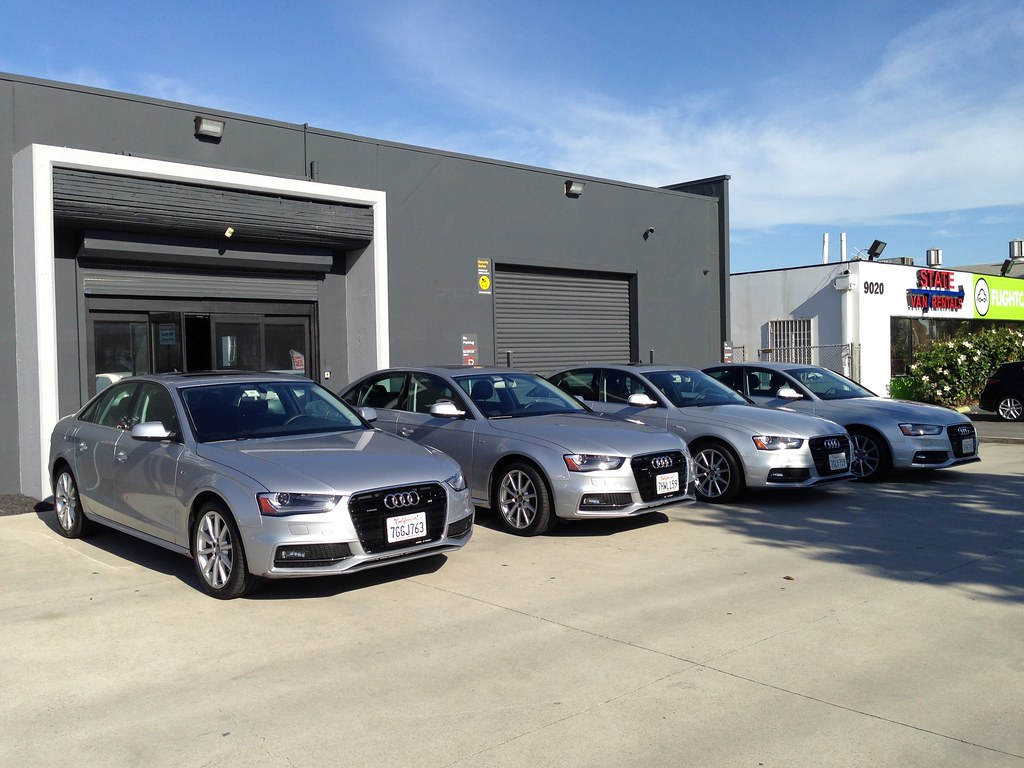 Silvercar fleet of Audi A4