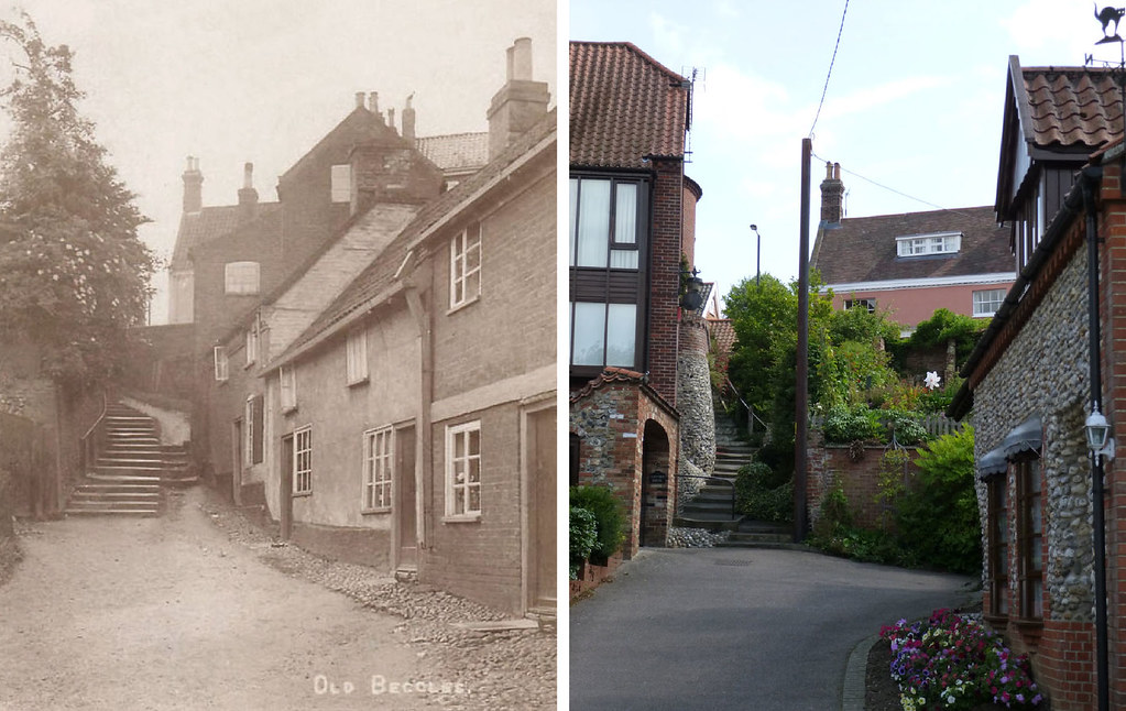 Stepping Hill, Beccles Then & Now