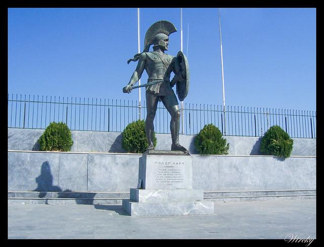 Grecia Nauplia Esparta Mistrás Olimpia - Rey Leónidas en Esparta