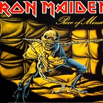 "IRON MAIDEN - PIECE OF MIND FRANCE GATEFOLD ALBUM COVER 12"" LP VINYL"