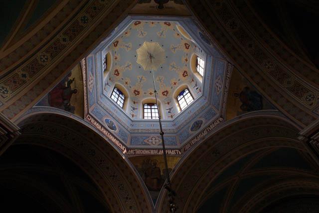 > Coupole de l'église orthodoxe Sainte Madeleine dans le quartier de Praga à Varsovie.