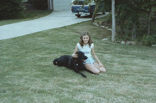 Girl and Her Dog / P1983-0602a066-34