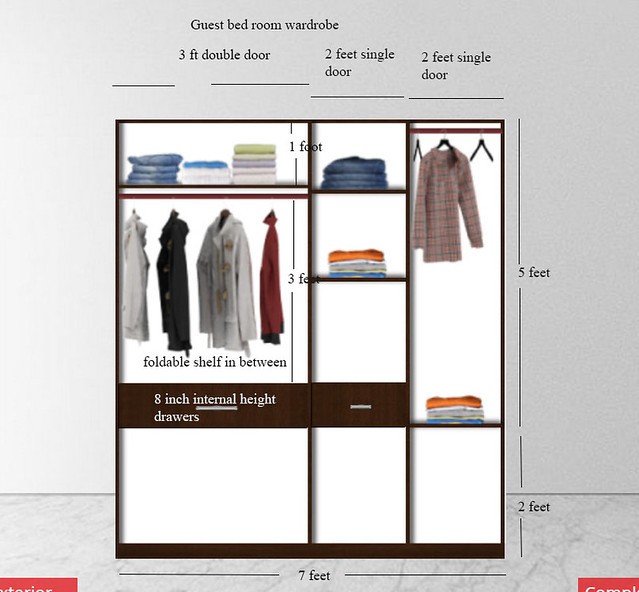 Wardrobe design from scratch