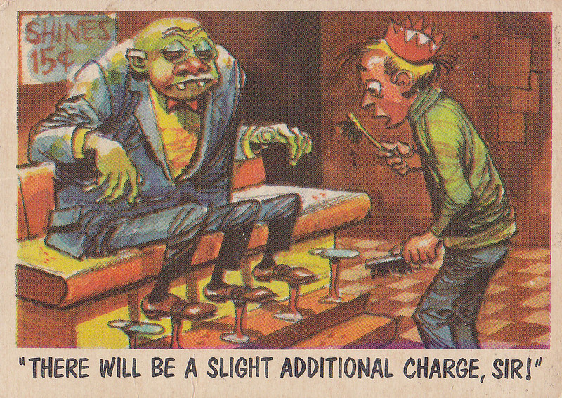 """You'll Die Laughing"" Topps trading cards 1959,  illustrated by Jack Davis (61)"