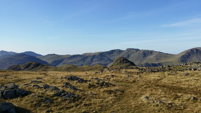 Heading for the Langdale Pikes