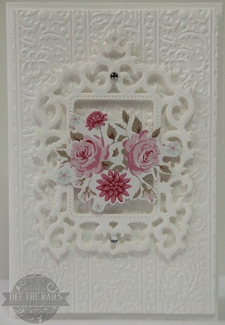 """White Floral"" Card 3"