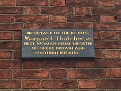 Photo of Margaret Thatcher black plaque