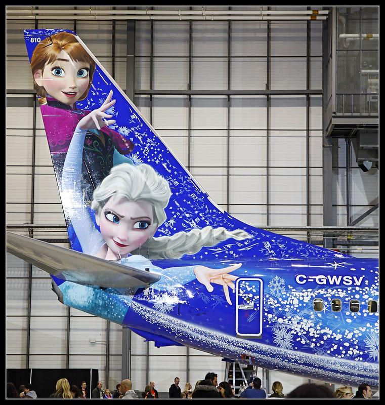 WestJet - Disney Frozen Livery