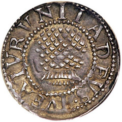 James I silver Thistle Penny reverse