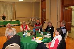 Jan's table: Jan Lockwood, Jeanne Millin, Mike Millin, Ruth Gordon, Deane Gordon. Photo by George Reiske.
