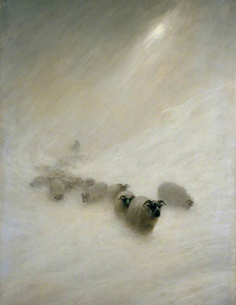 The Stormy Blast by Joseph Farquharson, 1898