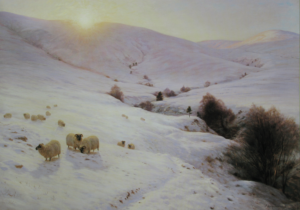 The Sun Peeped o'er yon Southland Hills by Joseph Farquharson