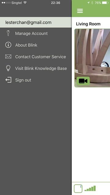 Blink iOS App - Settings