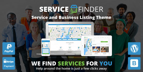 Service Finder v2.2 - Service and Business Listing WordPress Theme