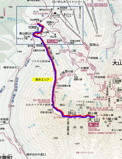 伯耆大山地図