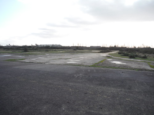 Greenham Common. Ex-Runway crossing Taxiway from Ex-US Air Force Compound