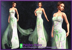 Paisley Daisy - Magnetic Constellation  Green Gown