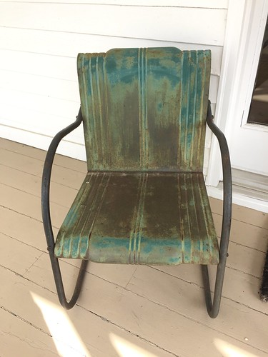 vintage metal furniture. As You Can See, This Pair Of Vintage Metal Arm Chairs Have A Beautiful  Patina And I Loved The Blend Several Shades Green Turquoise. Furniture E