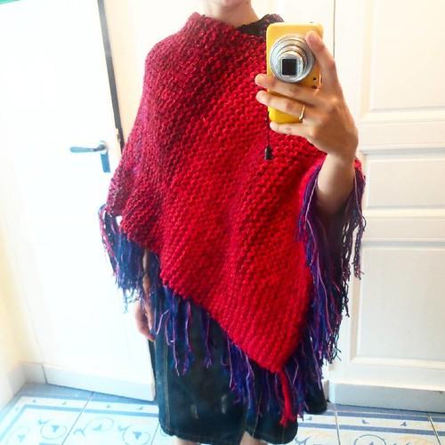 Poncho pansa #bigballknitting ;)