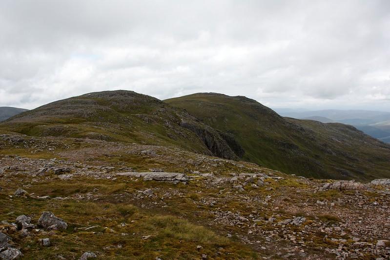 Along the tops of Stob Coire Sgriodain