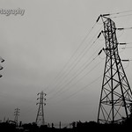 Family Photograph of Transmission Towers