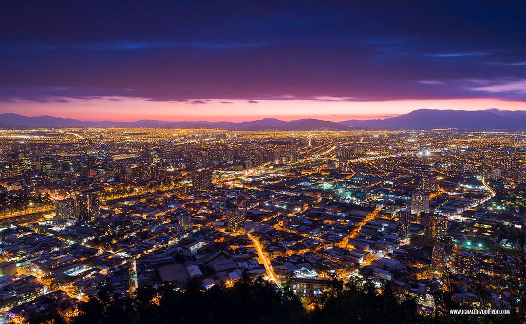 Sunset over Santiago de Chile 06