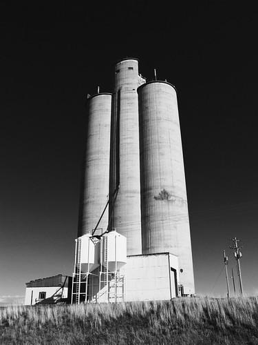 blackandwhite rural concrete colorado elevator agriculture grainelevator dovecreek