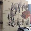 Caught this view of (Argentinian street artist) Hyuro's mural off Bond St. from Vanguard Cafe, 329 Princess St. #dunedin #NZ 12:30 pm Thurs. 8 Oct. 2015