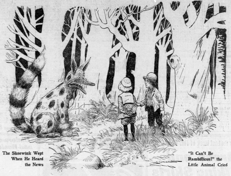 Walt McDougall - The Salt Lake herald., October 30, 1904, The Skeewink Wept When He Heard the News