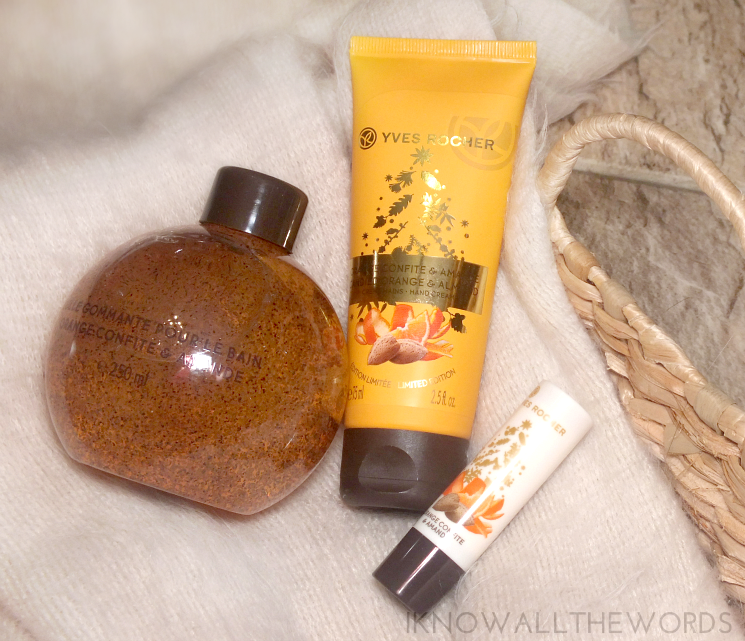 yves rocher holiday 2015 bath and body candied orange and almond