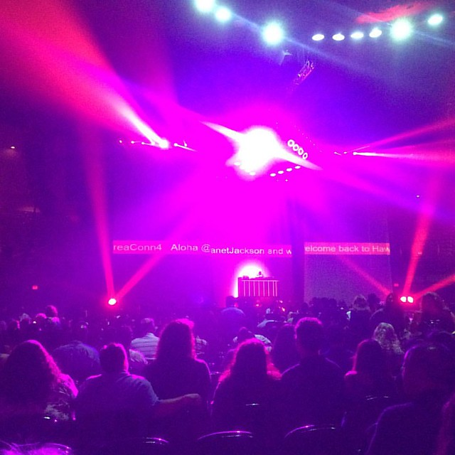 At Janet Jackson's Concert!