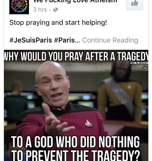Atheist responses to #prayforparis