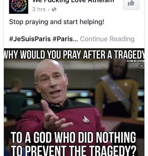 Atheist responses to #prayforparis
