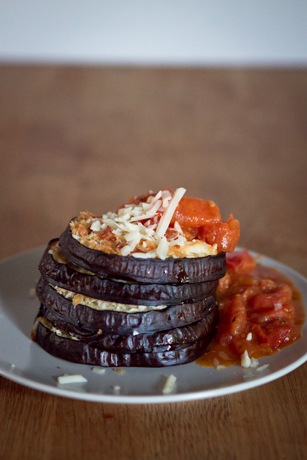 Layered Crusted Eggplants