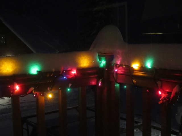 Lights and snow