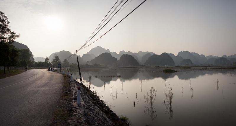 Atardecer en Tam Coc, Vietnam